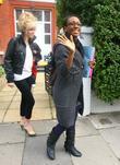 Alexandra Burke leaving the 'X Factor' house London,...