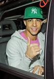 Marvin Humes JLS bandmembers leaving their hotel. The...