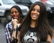 Alexandra Burke and Ruth Lorenzo arriving at rehearsals...