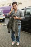 Austin Drage arriving at rehearsals for the X...