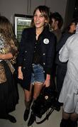 Alexa Chung LFW: Topshop-Unique s/s held at OnOff...