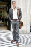 Alistair McGowan outside the BBC Radio 2 studios...