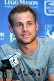 Andy Roddick held a press conference for the...