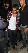 Aston Merrygold of JLS gives a homeless man...
