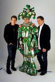 Kevin Bacon, Philadelphia Mummer Jim Werner and Michael Bacon