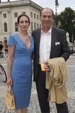 Herbert Knaup Christiane and Mercedes Benz Fashion Week