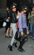 Vanessa Simmons and Angela Simmons arriving at Bryant...