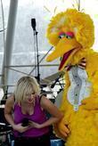 Natasha Bedingfield and Big Bird from Sesame Street