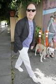 Billy Crystal, Wearing Ray-ban Wayfarer Sunglasses and Leaving Orso Restaurant In West Hollywood After Having Lunch