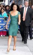 Lea Michele and David Letterman