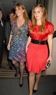 Sarah Ferguson and Princess Beatrice leaving the Mayfair...