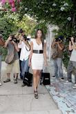Ciara surrounded by photographers