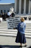 Religious Activists Protested Outside The Supreme Court Hearing Arguments For