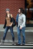 Emmy Rossum out with her boyfriend Adam Duritz...