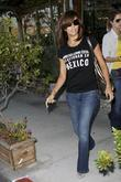 Eva Longoria Parker leaving Ken Paves hair salon...