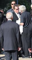 Ryan O'Neal attends the funeral service for actress...