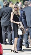 Alana Stewart at the funeral service for actress...