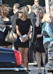 Marla Maples at the funeral service for actress...