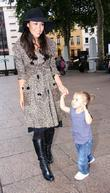 Myleene Klass and her daughter Ava Frightfest 2009...