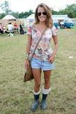 Caroline Flack and Glastonbury Festival