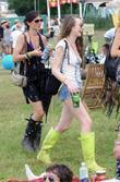 Elizabeth Jagger and Glastonbury Festival