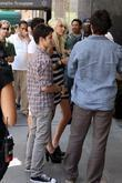 Taylor Momsen and Connor Paolo seen filming for...