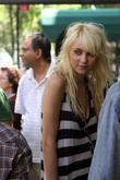 Taylor Momsen seen filming for the television series...
