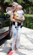 Gwen Stefani, her son Zuma go shopping at Bristol Farms then stop by the park to change Zuma's diaper. It was Zuma's first birthday and they celebrated with a party at their home