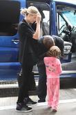 Seal kisses step-daughter Leni Klum goodbye