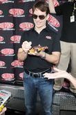 Nascar Driver Jeff Gordon Talks To The Media