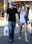 Brody Jenner and Jayde Nicole Go Shopping At The Aple Store In Hollywood