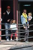Jessica Alba, Cash Warren, their daughter, Honor Marie Warren and have breakfast at The Griddle in West Hollywood with friends.