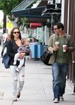 Jessica Alba, Cash Warren, their daughter and Honor Marie Warren