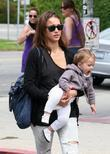 Jessica Alba, her daughter and Honor Marie Warren