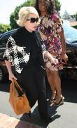 Joan Rivers, Carrying A Tan Hermes Handbag and Arrives At Fred Segal For Lunch