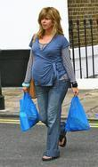 Heavily Pregnant Tv Presenter Kate Garraway Goes To The Local Shops