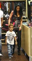 Katie Price, aka Jordan and with her son Junior
