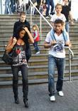 Katie Price, aka Jordan, with boyfriend Alex Reid, her son Junior