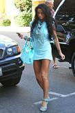 Katie Price, Aka Jordan, Carrying A Crocodile Handbag and Arrives At A Medical Building In Beverly Hills Wearing A Baby Blue Ensemble
