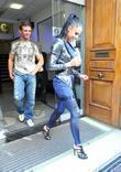 Katie Price and Alex Reid leave the Radio One studios after Katie appeared on the Trevor Nelson show