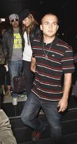Mena Suvari and her fiance Simone Sestito leaving Katsuya where they dined with Sestito's close pal Sean Paul