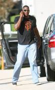 Keyshawn Johnson Talking On His Cellphone While Out Shopping In Beverly Hills