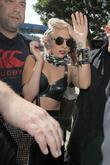 Lady Gaga, Aka Stefani Joanne Germanotta and Gets A Police Escort As She Arrives At Lax Airport On A British Airways Flight From London Heathrow