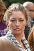 Rebecca Gayheart arriving amongst the crowds of fans coming to watch the second finals match between Orlando Magic
