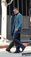 Leonardo DiCaprio on the film set for his...