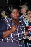 Gabourey Sidibe and David Letterman