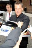 Matt Damon and David Letterman