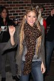 Shakira and David Letterman