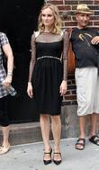 Diane Kruger and David Letterman