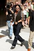 Johnny Depp outside the Ed Sullivan Theater for...